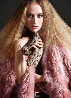 Raquel Zimmermann photographed by Mario Sorrenti for Vogue Paris August 2014.