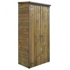 Ez a fa tárolókamra rusztikus bájával hasznos kiegészítő lesz a teraszon, udvaron vagy a kertben. 3 polcával és 1 nagy fiókjával a kerti fészer bőséges helyet biztosít szerszámoknak, kerti eszközöknek és sok egyébnek. Ez a kültéri tárolósze Wooden Storage Sheds, Outdoor Storage Sheds, Wooden Sheds, Garden Tool Shed, Garden Storage Shed, Plastic Sheds, Pergola, Outdoor Shelters, Parasols