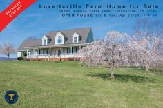 OPEN HOUSE on the Lovettsville Farm Home at 38990 Dobbins Creek Ln tomorrow and Sunday, April 23-24 from 1-4 pm. Home is repriced now to $650,000! See more at: http://goo.gl/I7CxQR .Call Gene Mock for more info 703.342.8100
