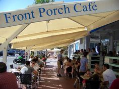 The Front Porch Cafe.  Great breakfast spot. Sit outside.  1458 Ocean Dr, Miami Beach, FL  305-531-8300