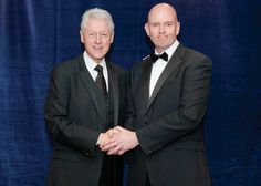 Kevin Byrne MD of Checkatrade.com with Bill Clinton