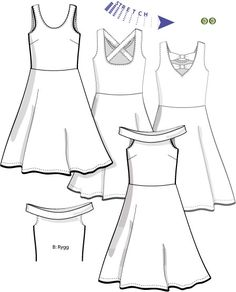 Swedish Sewing, Fashion Sketches, Sewing Patterns, Peplum, Spandex, Stickers, Flat, Tops, Women