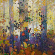 Forest Rhapsody by Rick Stevens Abstract Tree Painting, Abstract Painters, Abstract Art, Rick Stevens, Wow Art, Pastel Art, Tree Art, Abstract Expressionism, Painting Inspiration