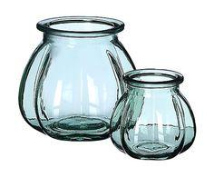 Jarrón de vidrio reciclado