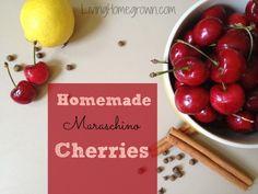 How to make Maraschino Cherries - LivingHomegrown.com