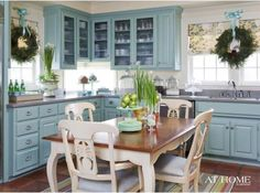 must paint my cupboards this color!!! and maybe the front door too and maybe the bookselves too...