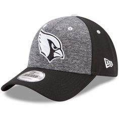 competitive price 2e2dc 628f6 Men s Arizona Cardinals New Era Heathered Gray Black The League Shadow 2 9FORTY  Adjustable Hat