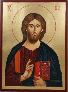 Christ Our Lord (Mt Athos), Greece -hand-painted Byzantine icon