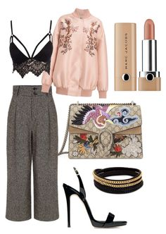 """Untitled #164"" by audreysidharta on Polyvore featuring Gucci, Pink Tartan, STELLA McCARTNEY, Club L, Giuseppe Zanotti and Vita Fede"