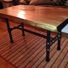 Handmade Rustic Industrial Coffee table, Retro Wood Coffe Table, Rustic Pipe Furniture, New Age,,