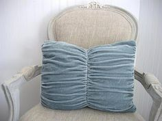 I need to find some velvet remnants or secondhand clothing to recycle into cushy pillows