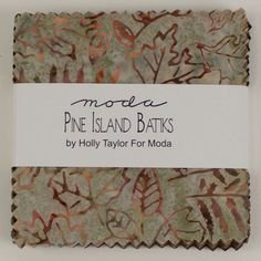 "Pine Island Batiks - 5"" Charm Pack Squares - by Holly Taylor for Moda (Precut Fabric, 100% Cotton) by TheCleverQuiltShoppe on Etsy"