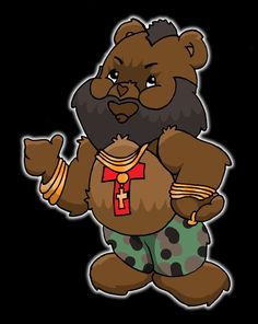 Mr. T Care Bear - I pity the fool that don't love Care Bears!