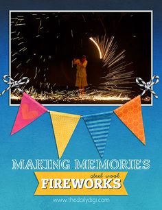 Make some awesome memories this summer with Steel Wool Fireworks! Not as crazy or dangerous as they sound ;)