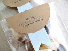 custom labels from these 4-inch kraft paper circle adhesive labels from Paper-Source.