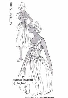 1950s RARE Norman Hartnell Gorgeous Evening Cocktail Party Dress Pattern Spadea S316 Dreamy Full Skirt Crushed Cummerbund Totally Flattering Style Bust 36.5 Vintage Sewing Pattern 195