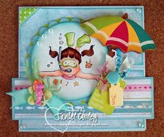 A Slice of Summertime Easel card by Janiel Corley