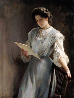 Reading the Letter / Thomas Benjamin Kennington //