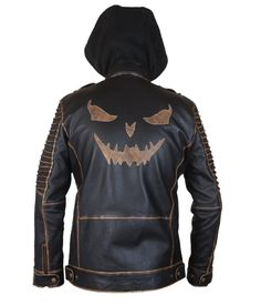 F&H Boy's Genuine Leather Suicide Squad Joker Killing Jacket with Removable Hood M Brown. Premium quality cowhide leather. Polyester + satin lining with 2 inside pockets. Original ykk zipper. 30 day returns & exchange, 100% money back guarantee. International buyers may be required to pay import duties as levied by their government.