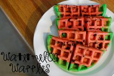 Watermelon Waffles