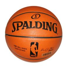 """Spalding NBA Replica Composite Indoor/Outdoor Basketball - Intermediate Size 6 (28.5"""") by Spalding. $35.95. Designed for indoor and outdoor play.. Composite leather cover provides soft tack for great grip, touch and control of the ball.. Features the official NBA logo and graphics - just like the official game basketball. Product Description                A Division of Russell Brands, LLC, Spalding is the largest basketball equipment supplier in the world, and America'..."""