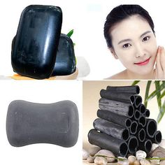 1xNatural Bamboo Making Black Soap Active Rnergy Skin Bleaching Soap Health Care