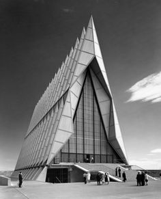 Balthazar Korab.  Usafa Cadet Chapel, Colorado.  SOM Architects,1954. @designerwallace