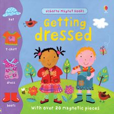 This is a magnet book where you dress the characters for the appropriate season or situation. Great for vocab and following directions. We love this one!