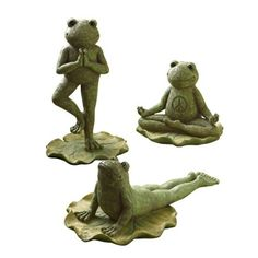 Yoga Frogs...perfect for inside or in the garden to brighten your day!
