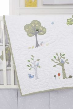 Nightowl Crib Quilt by Whistle & Wink - http://www.theboysdepot.com/nightowl-crib-quilt-by-whistle-and-wink.html