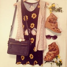 I love sunflower dresses, I need one to get one for summer