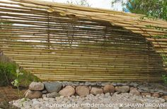 bamboo pergola | Modern Bamboo Gazebo ~ DIY | Where the hammock hangs