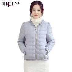 HIJKLNL camperas mujer Winter Cheap Coat Women Candy Color Slim Fit Jacket Coat 2017 Female O-Neck Zipper Cotton Parkas NA178 #Affiliate