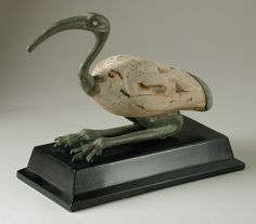 Composite wooden and bronze ibis figure. Late Period. 712-332 B.C.   Los Angeles County Museum of Arts Collections
