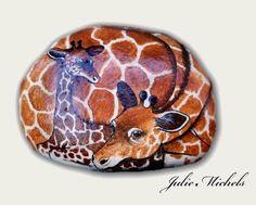 girrafes, Rock  Art Imagery by Julie Michels