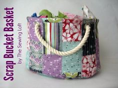 Cool Crafts You Can Make With Fabric Scraps - Stackable Scrap Bucket Bag - Creative DIY Sewing Projects and Things to Do With Leftover Fabric and Even Old Clothes That Are Too Small - Ideas, Tutorials and Patterns http://diyjoy.com/diy-crafts-leftover-fabric-scraps