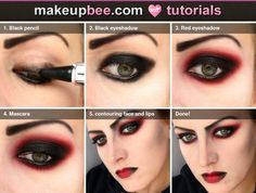Step-By-Step Tutorial for Simple vampire makeup