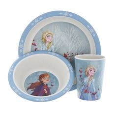 Faux Marble Dining Table, Frozen Merchandise, Disney World Pictures, Dinners For Kids, Dinner Sets, Plate Sets, Disney Frozen, Dinner Plates, Vibrant