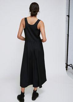 Yohji Yamamoto Suspender Dress (Black)