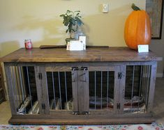 Custom Double Dog Kennel Crate Coffee Or By IngrainedBuilders