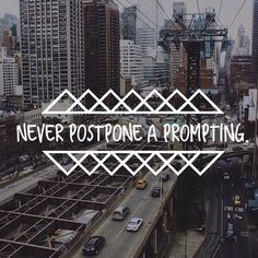 To postpone a prompting is to give your calling the hand. You are called to something bigger, do not wallow in your decent down the rabbit hole.