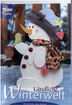 Topp - Landliche-Winterwelt - Subtomentosus Xerocomus - Picasa Albums Web Christmas Wood Crafts, Primitive Christmas, Christmas Snowman, Christmas Ornaments, Snowman Decorations, Snowman Crafts, Christmas Tree Decorations, Tole Decorative Paintings, Wood Ornaments