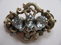Large Victorian Brooch With Light Blue by victoriansentiments, $90.00