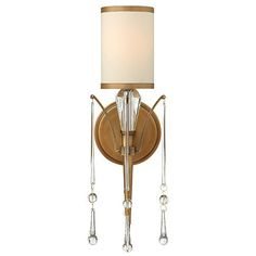 Bentley Brushed Bronze One Light Sconce Fredrick Ramond 1 Light Armed Candle Wall Sconces