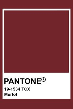 Pantone Merlot