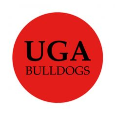 """University of Georgia 1-1/2"""" Round Labels - Free Shipping. Use these semi-gloss circle labels to seal envelopes or as an eye catching touch to demonstration your school pride. GO DAWGS!"""