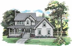 Eplans Country House Plan - Charming Country Exterior - 1924 Square Feet and 3 Bedrooms from Eplans - House Plan Code HWEPL06299