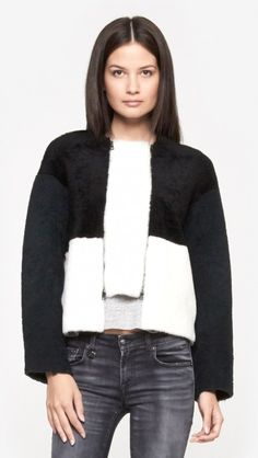 Get this Opening Ceremony shearling coat for 20% off today only (click here for details http://chicityfashion.com/cyber-monday-sales/)