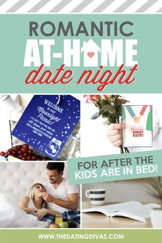 Romantic At Home Date Ideas- The perfect date night ideas for parents! Put the kids to bed and stay at home for a romantic evening together with these easy dates. Creative Date Night Ideas, Romantic Date Night Ideas, Romantic Evening, Dating Divas, Romance Tips, Bed Romance, True Romance, Romance Movies, Romance Quotes