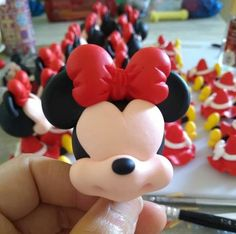 Mickey Mouse Clubhouse Birthday Party, Mickey Cakes, Marzipan, Cake Decorating, Minnie Mouse, Clay, Minne, Canisters, Disney Characters
